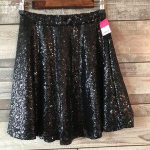 Xhilaration black sequins skirt girls size XS